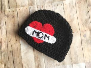 Crocheted MOM Beanie